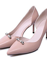 Недорогие -Жен. Обувь Наппа Leather Лето Удобная обувь Обувь на каблуках На шпильке Черный / Розовый