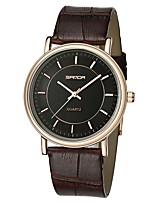 baratos -SANDA Homens Relógio Elegante / Relógio de Pulso Japanês Impermeável / Relógio Casual / Legal Couro Banda Casual / Fashion Preta / Marrom