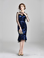 cheap -Women's Elegant Trumpet / Mermaid Dress Lace / Mesh