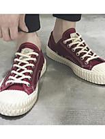 Недорогие -Муж. Комфортная обувь Полотно Весна На каждый день Кеды Черный / Вино / Темно-зеленый