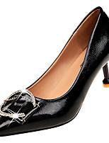 Недорогие -Жен. Балетки Полиуретан Лето Минимализм Обувь на каблуках На шпильке Заостренный носок Бежевый / Красный / Зеленый