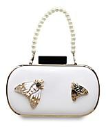 cheap -Women's Bags PU(Polyurethane) Evening Bag Buttons White