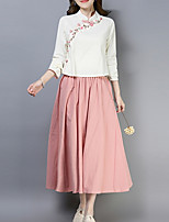 cheap -Women's Set - Solid Colored Skirt