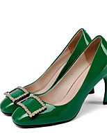 Недорогие -Жен. Наппа Leather Весна На каждый день Обувь на каблуках На шпильке Черный / Зеленый / Винный