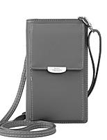 Недорогие -Жен. Мешки PU Мобильный телефон сумка Однотонные Розовый / Серый / Коричневый