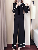 cheap -Women's Set - Solid Colored / Striped Pant