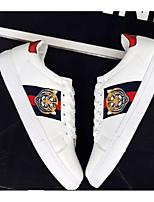 """Недорогие -Муж. Комфортная обувь Полиуретан Весна & осень На каждый день / Стиль """"Школьная форма"""" Кеды Белый / Черный"""