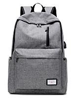 Недорогие -Универсальные Мешки холст рюкзак Молнии / Однотонные Темно-синий / Лиловый / Светло-серый