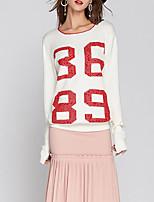 cheap -Women's Basic Pullover - Letter