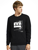 cheap -Men's Basic Sweatshirt - Solid Colored / Letter
