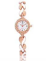 Недорогие -Жен. Часы-браслет / Наручные часы Китайский Повседневные часы / Имитация Алмазный сплав Группа На каждый день / Мода Черный / Белый / Синий