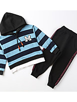 cheap -Kids Boys' Basic Striped Lace up Long Sleeve Cotton Clothing Set