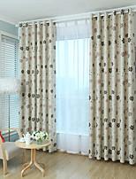 Недорогие -Шторы занавески затемнения Спальня Цветочный принт 100% Полиэфир С принтом / Солнцезащитные