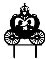 Недорогие -Украшения для торта Пляж / Сад / Бабочки Стиль / Простой стиль Дерево / Бамбук Свадьба / Особые случаи с Акрил / Однотонные 1 pcs Пенополиуретан