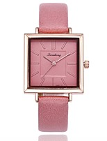 cheap -Women's Dress Watch / Wrist Watch Chinese Casual Watch PU Band Casual / Fashion Black / White / Blue