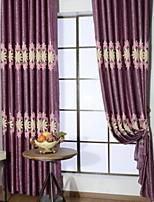abordables -cortinas cortinas Sala de estar Contemporáneo Algodón / Poliéster Impreso