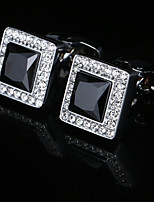 cheap -Geometric Silver Cufflinks Copper Classic / Basic Men's Costume Jewelry For Party / Gift