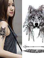 preiswerte -3 pcs Tattoo Aufkleber Temporary Tattoos Totem Serie / Tier Serie Umweltfreundlich / Neues Design Körperkunst Korpus / Arm / Brust / Decal-Stil temporäre Tattoos