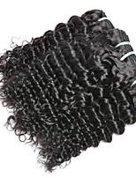Недорогие -4 Связки Индийские волосы / Вьетнамские волосы Крупные кудри Необработанные / Натуральные волосы Подарки / Человека ткет Волосы / Сувениры для чаепития 8-28 дюймовый Ткет человеческих волос