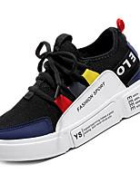 cheap -Men's Mesh / PU(Polyurethane) Fall Comfort Sneakers Color Block White / Black