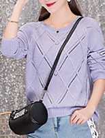 cheap -Women's Long Sleeve Pullover - Solid Colored