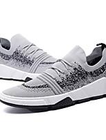 Недорогие -Муж. Полиуретан / Эластичная ткань Осень Удобная обувь Кеды Черный / Серый / Черный / Красный