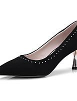 Недорогие -Жен. Обувь Овчина Весна Туфли лодочки Обувь на каблуках На шпильке Черный