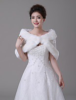 cheap -Sleeveless Faux Fur Wedding / Birthday Women's Wrap With Flower Capelets