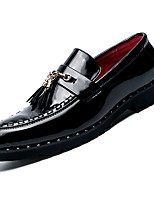 cheap -Men's Comfort Shoes PU(Polyurethane) Fall Loafers & Slip-Ons Black / Party & Evening
