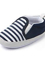 Недорогие -Мальчики / Девочки Удобная обувь / Обувь для малышей Хлопок На плокой подошве Младенцы (0-9m) / Малыш (9м-4ys) Темно-синий / Зеленый / Хаки Весна / Осень / Полоски