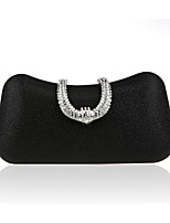 cheap -Women's Bags Synthetic Evening Bag Crystals Gold / Black / Gray