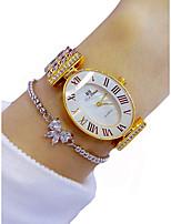 cheap -Women's Wrist Watch Quartz Chronograph Luminous Lovely Alloy Band Analog Sparkle Fashion Gold - Gold / Imitation Diamond