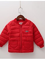 Недорогие -Дети / Дети (1-4 лет) Девочки Однотонный Длинный рукав На пуховой / хлопковой подкладке