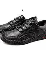 Недорогие -Муж. Комфортная обувь Полиуретан Весна & осень На каждый день Кеды Черный / Коричневый / Синий