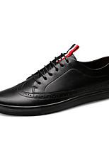 cheap -Men's Cowhide Spring Comfort Sneakers Black