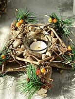 Недорогие -Рождественские украшения Праздник деревянный Квадратный Оригинальные Рождественские украшения