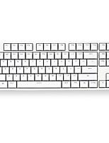 Недорогие -Xiaomi MK01 Кабель Клавиатура 87 pcs Механическая клавиатура USB слот питание