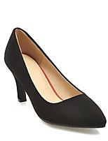 baratos -Mulheres Sapatos Confortáveis Camurça Primavera Saltos Salto Agulha Preto / Bege / Cinzento