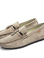 cheap -Men's Moccasin Pigskin Spring / Fall Loafers & Slip-Ons Gray / Dark Brown / Khaki