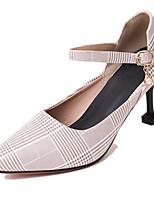 Недорогие -Жен. Комфортная обувь Полиуретан Весна Обувь на каблуках На шпильке Желтый / Зеленый / Розовый
