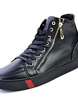 Недорогие -Муж. Полиуретан Лето Удобная обувь / Флисовая подкладка Кеды Черно-белый / Черный / Красный