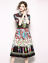 cheap -SHIHUATANG Women's Boho / Street chic A Line Dress - Floral Print