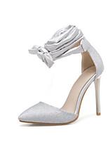 baratos -Mulheres Sapatos Sintéticos Primavera Plataforma Básica Saltos Salto Agulha Preto / Prata / Vermelho