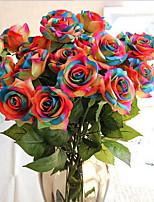 Недорогие -Искусственные Цветы 1 Филиал Классический / Односпальный комплект (Ш 150 x Д 200 см) Вечеринка / Свадьба Розы Букеты на стол