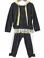 cheap -Kids Boys' Print / Color Block Long Sleeve Clothing Set