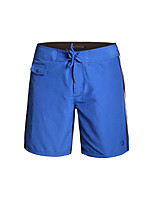 cheap -Men's Swimming Trunks Breathable Polyster Swimwear Beach Wear Bottoms Solid Colored Surfing / Watersports / Wakeskating
