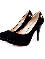 Недорогие -Жен. Балетки Замша Осень Обувь на каблуках На шпильке Черный / Красный / Синий