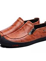 cheap -Men's Comfort Shoes PU(Polyurethane) Fall Loafers & Slip-Ons Black / Wine / Dark Brown