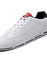 Недорогие -Муж. Полиуретан Осень Удобная обувь Кеды Контрастных цветов Красный / Черно-белый / Wit En Groen