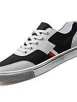 cheap -Men's Canvas Fall Comfort Sneakers Color Block White / Black